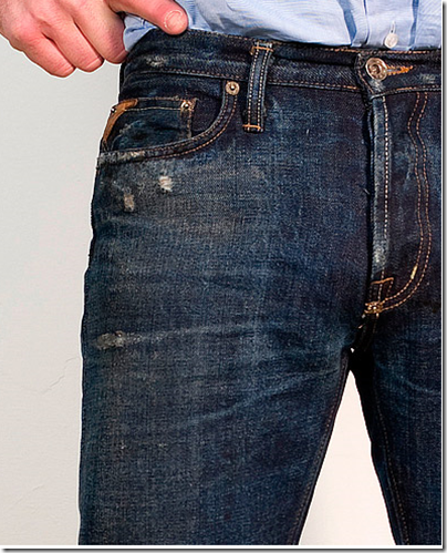 whiskers on denim jeans