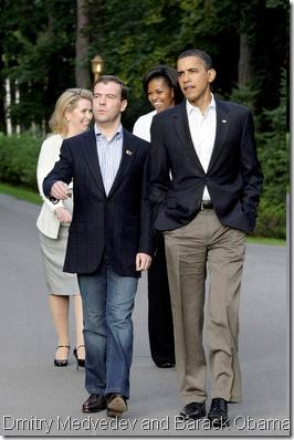 Dmitry Medvedev and Barack Obama