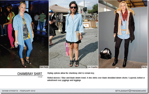 chambray shirts denim trend