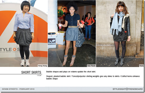 short skirts denim trend