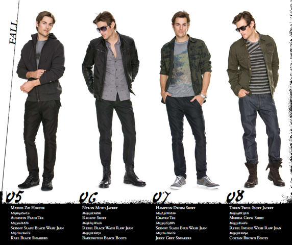 Guess Men's Jeans Fall/Holiday 2010 Look Book