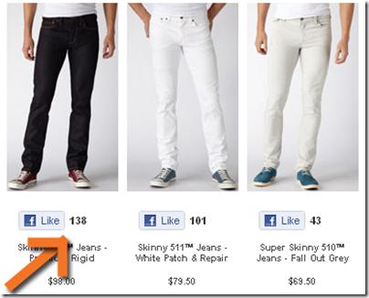 facebook levis jeans