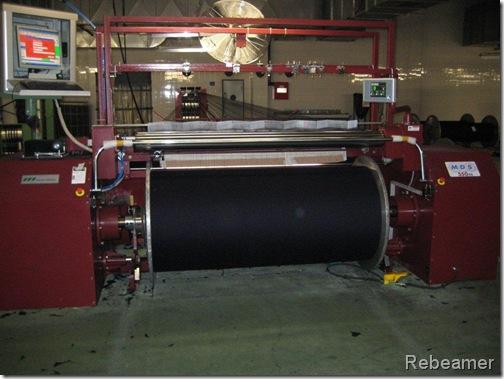 rebeamer indigo yarn