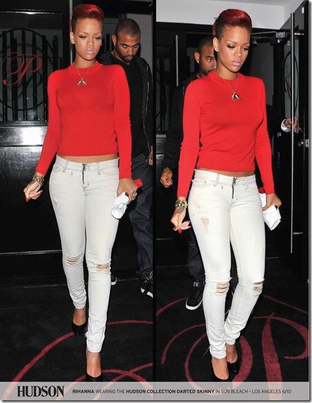 Rihanna in Hudson Jeans