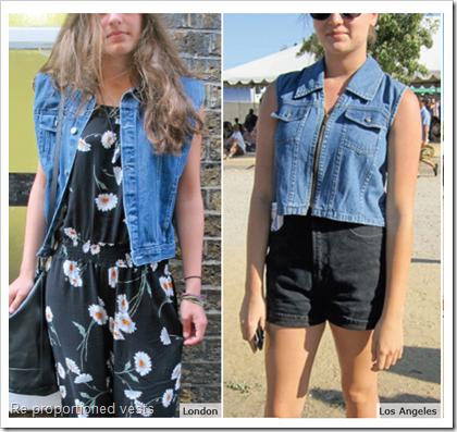 Re proportioned vests denim