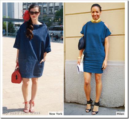 Up sized sack dress