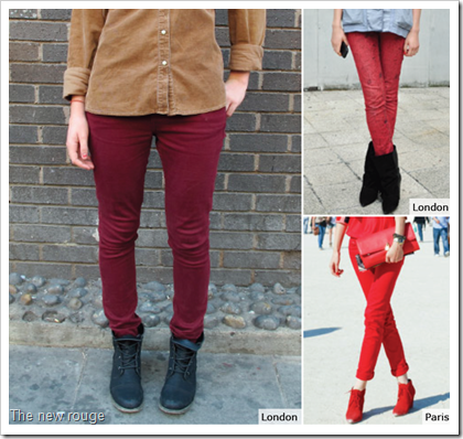 The new rouge deep colored denim