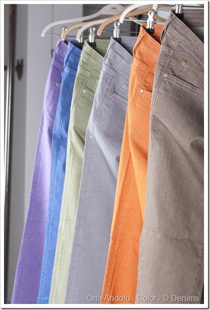 Yarn Dyed Color Denim Fabric - Orta