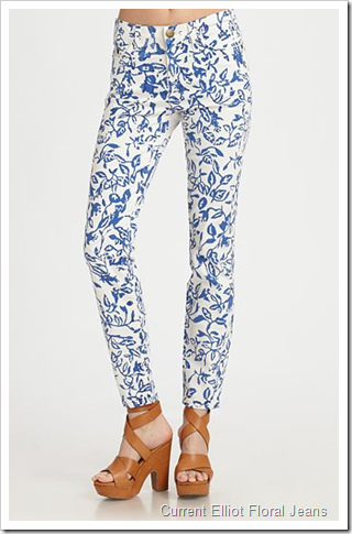Current Elliot Floral Jeans