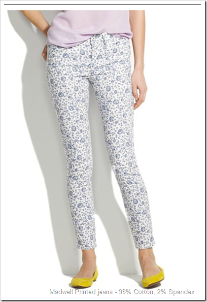 Madwell Printed jeans - 98% Cotton, 2% Spandex
