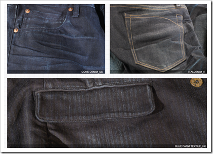 Super Dark Denim Fabrics With Different Treatments