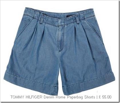 TOMMY HILFIGER Denim Rome Paperbag Shorts