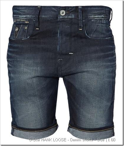 G-Star HANK LOOSE - Denim shorts – blue