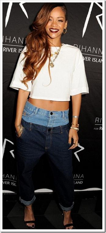 Rihanna in Double Denim