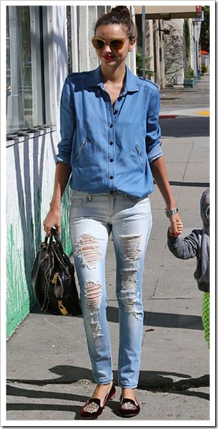 Miranda Kerr in Double Denim