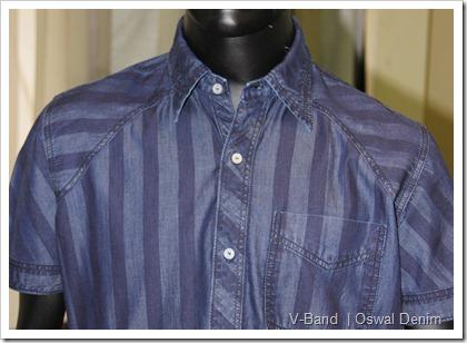 V-Band Denim Shirt | Oswal Denim