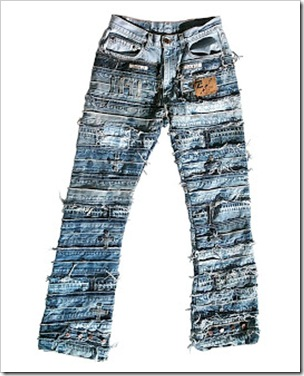 Rags , patches and leftovers converted into a Jeans