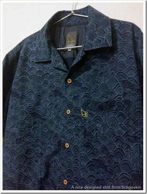 indigo denim designed shirt