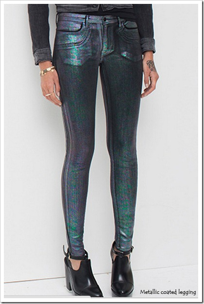 Metallic Coated Jeggings from Levis