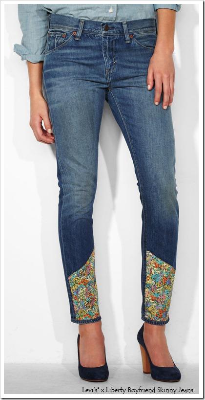 Levis x Liberty Boyfriend Skinny Jeans
