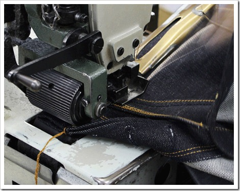 raw denim stitching