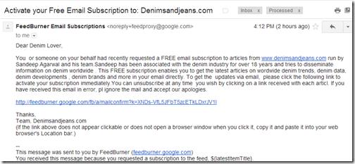 free denim newsletter