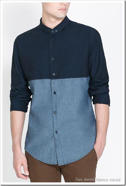 PRINTED DENIM SHIRT Zara Man Printed Shirts