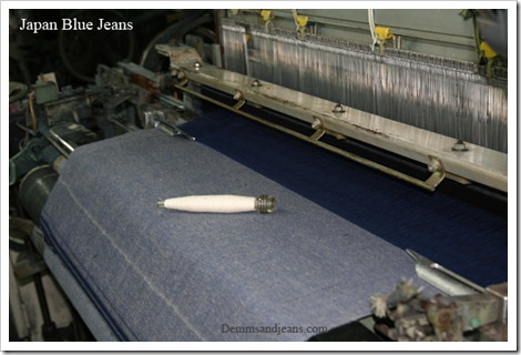 Selvedge denim looms weaving