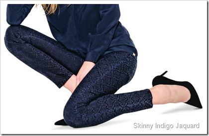 7 For All Mankind Fall Winter 2014 Women's Lookbook - Skinny Indigo Jaquard