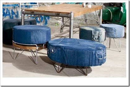 Recycled Denim Stools
