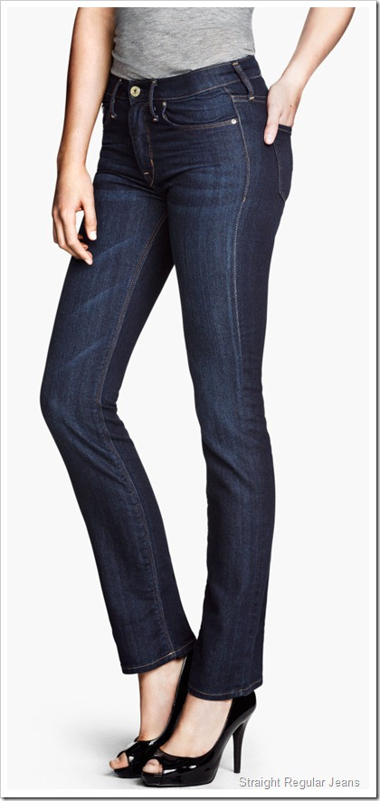 H&M/Straight Regular Jeans