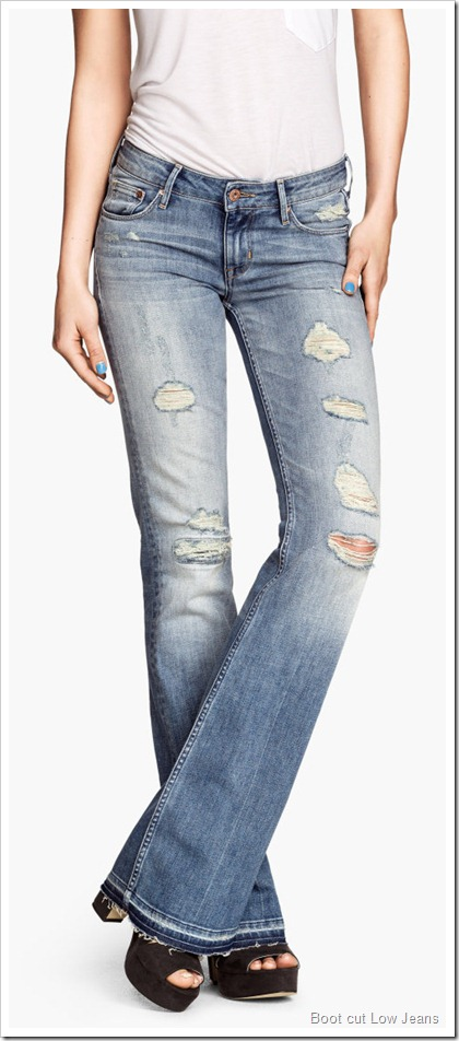 H&M/Boot cut Low Jeans