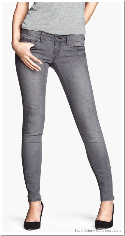 H&M/Super Skinny Super Low Jeans