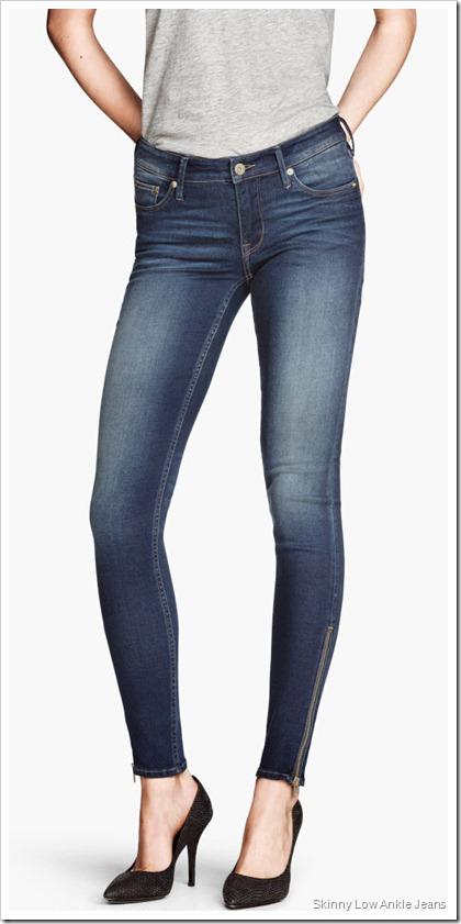 H&M/Skinny Low Ankle Jeans