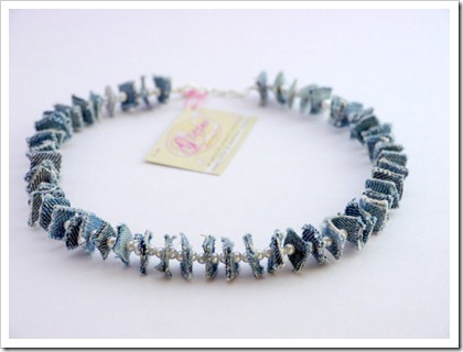 Recycled Denim Necklace