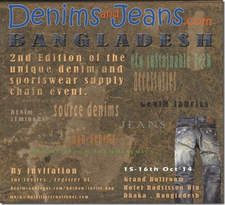 2nd Denimsandjeans Bangladesh Show On 15-16th Oct'14