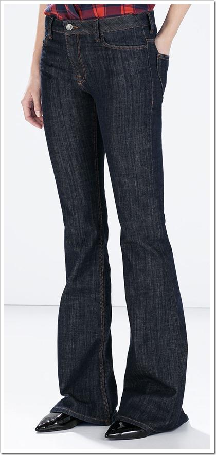 Zara-Two-way Stretch Skinny Flared Jeans