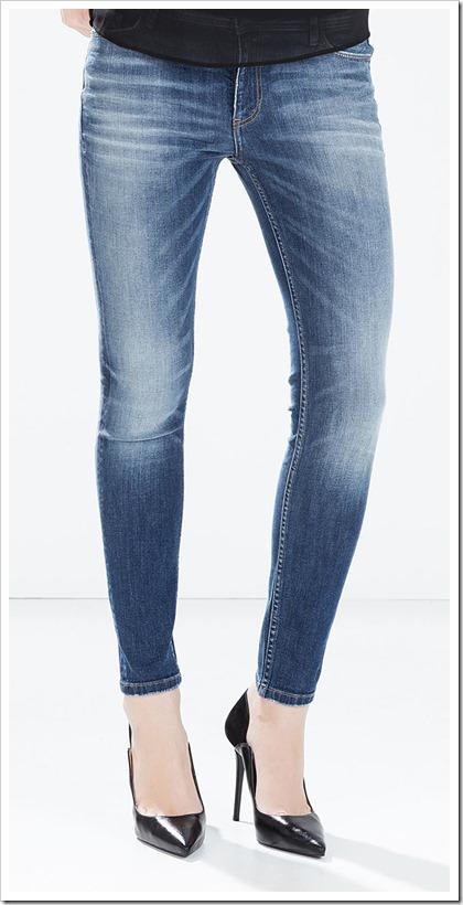 Zara-Mid-Rise Cigarette Jeans