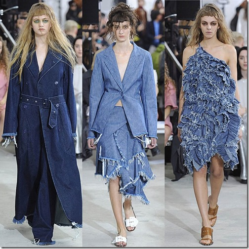 Marques' Almeida London fashion week ss/16  denimsandjeans.com