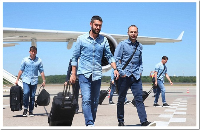 Barcelona FC Football Team In Double Denim Designed By Replay : Denimsandjeans.com