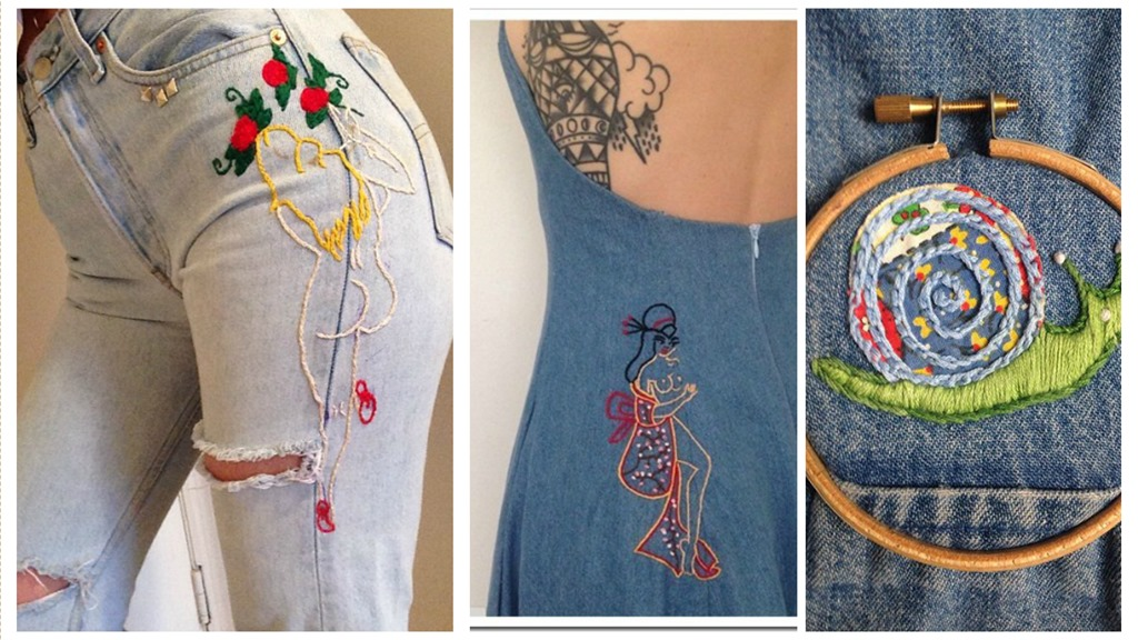 Denim Embroidery By Marie Sophie Lockhart  Denim Jeans
