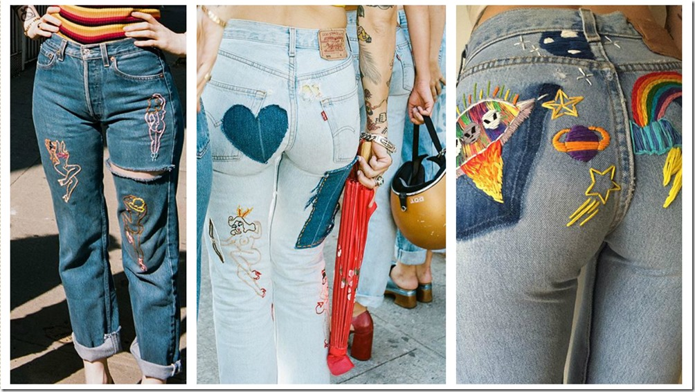 Denim Embroidery By Marie Sophie Lockhart  denimsandjeans.com