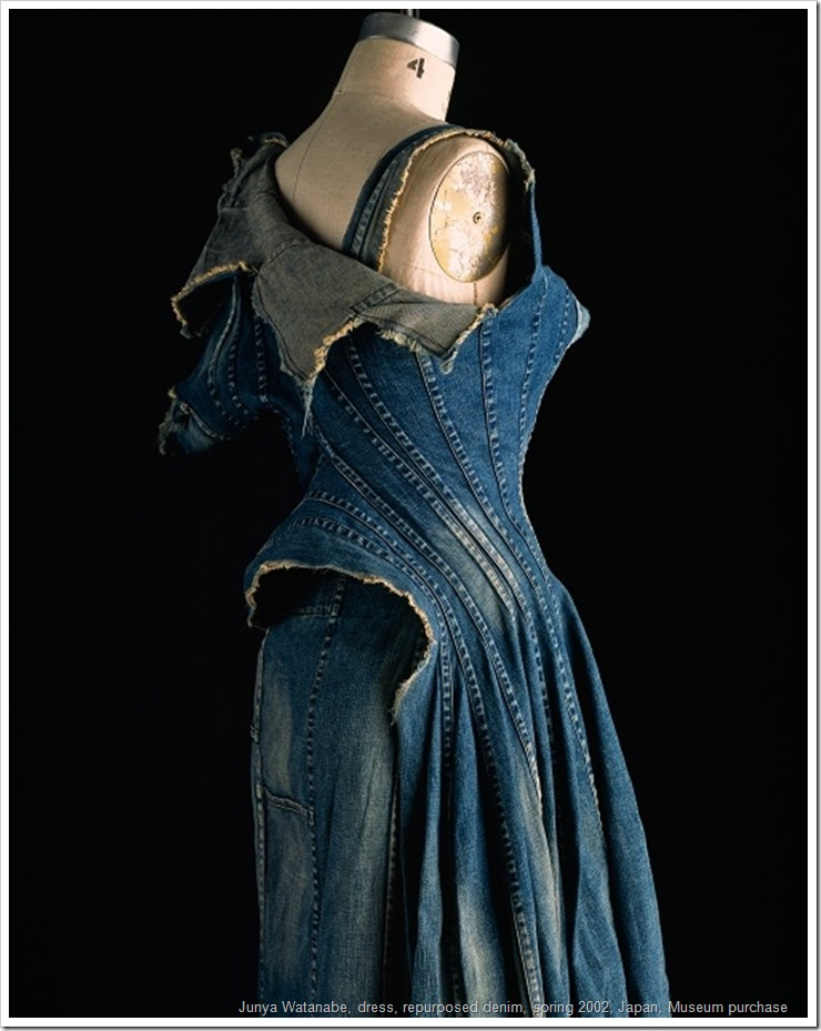 Comme de Garçons (Junya Watanabe) Dress, repurposed denim, spring 2002. (Photo: Courtesy of the Museum at FIT)