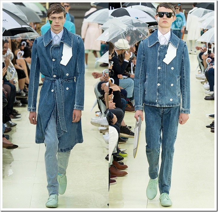 Kenzo at Spring Summer 2015 Denim Trends from Paris Fashion Week