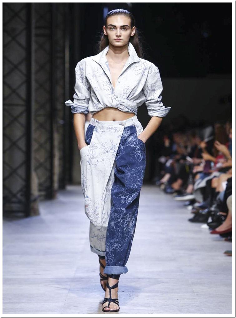 Leonard : Denim shirt, Murphy print.,Two-colour denim pants, Murphy print