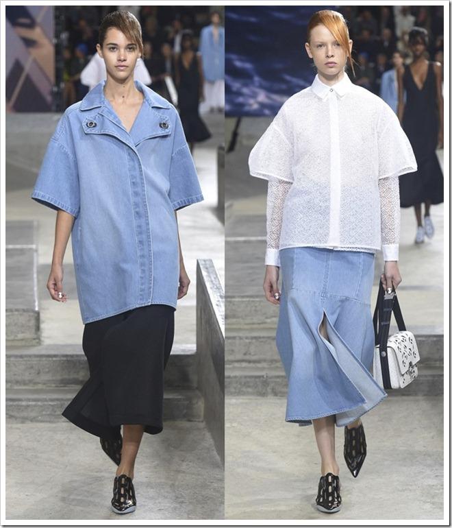 Kenzo at Spring Summer 2015 Denim Trends from Paris Fashion Week
