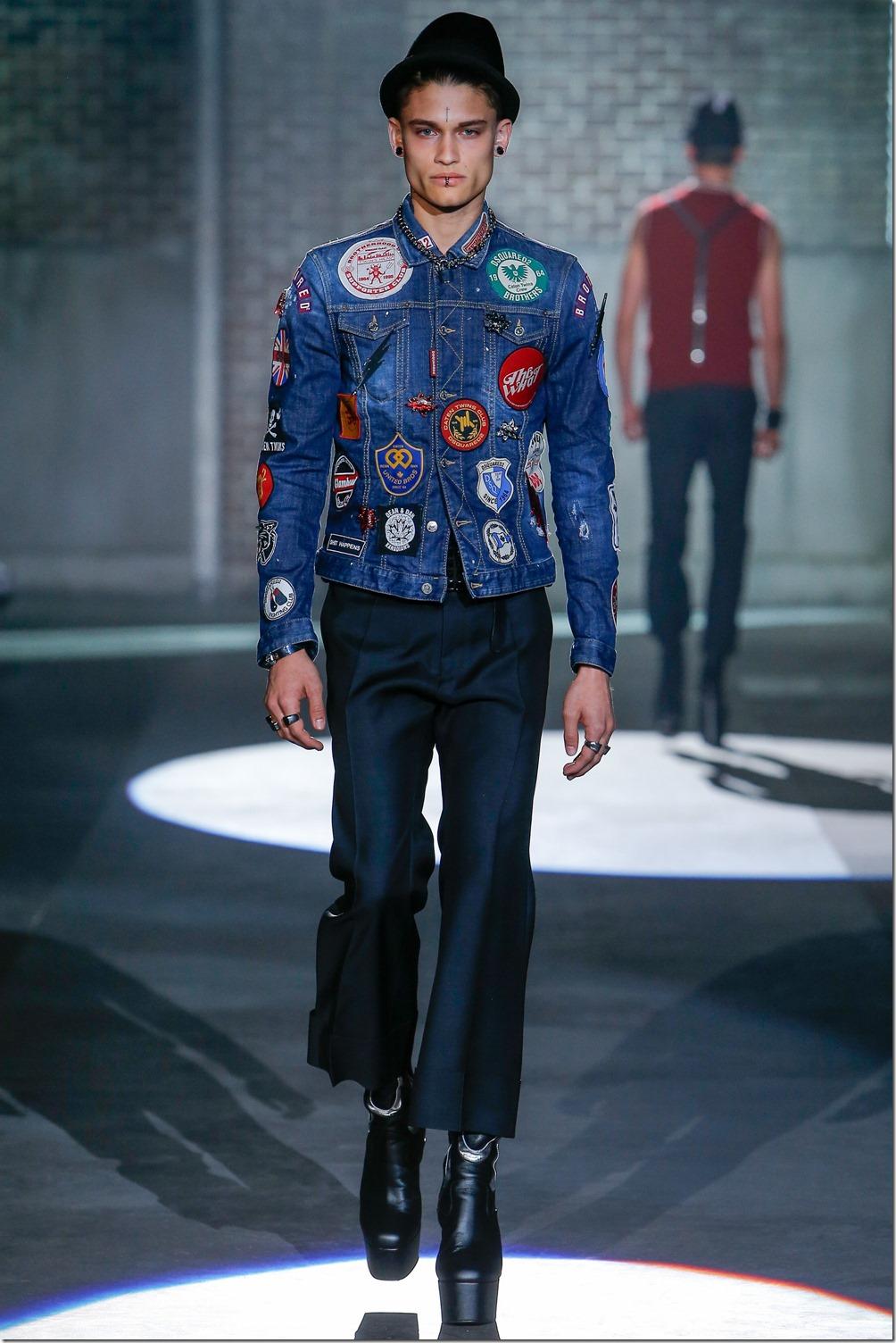 Dsquared2 Spring 2017 Menswear denimsandjeans.com