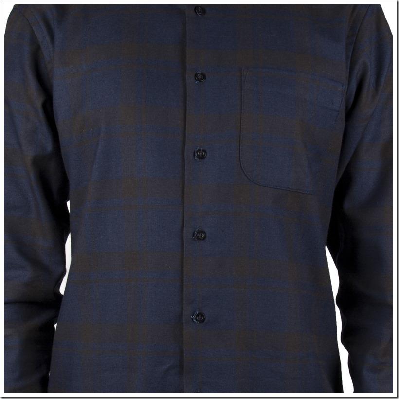 Real Indigo Flannel Indigo Black -Regular Shirt