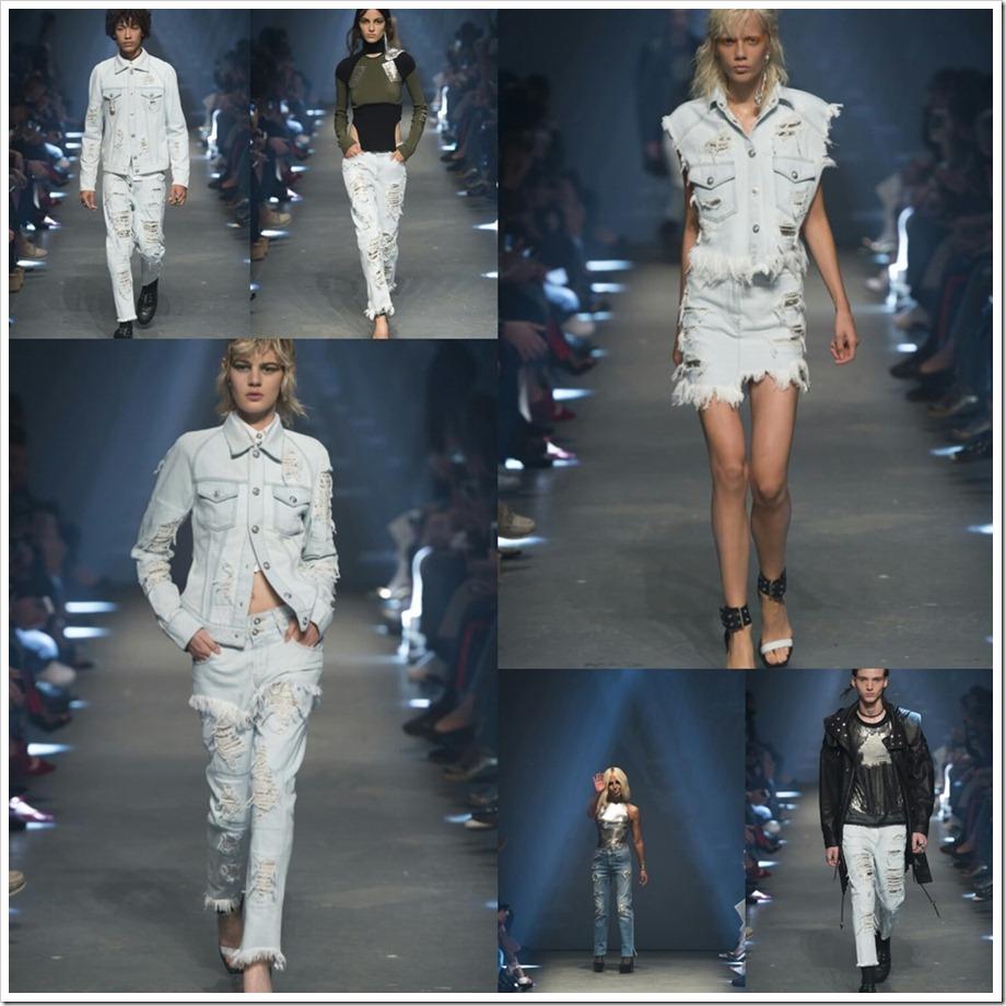 The Best Denim Trends of London Fashion Week SS–17 | Versus Versace