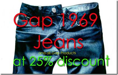 gap 1969 discounted price